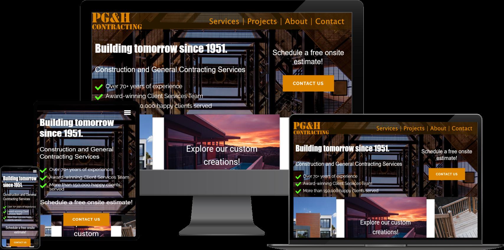 Slide of construction company